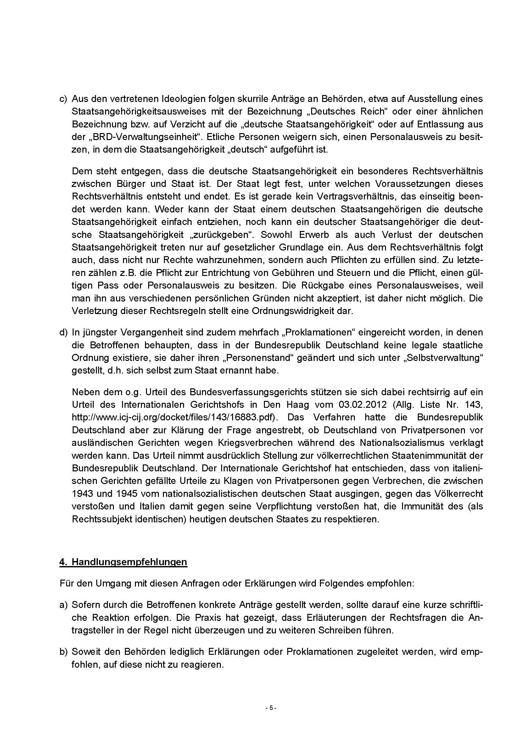 Aktuelle Anweisung Für Behörden Umgang Mit Reichsbürgern