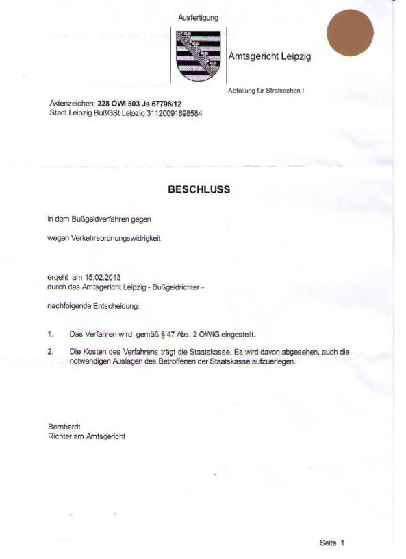 AG Beschluss 1