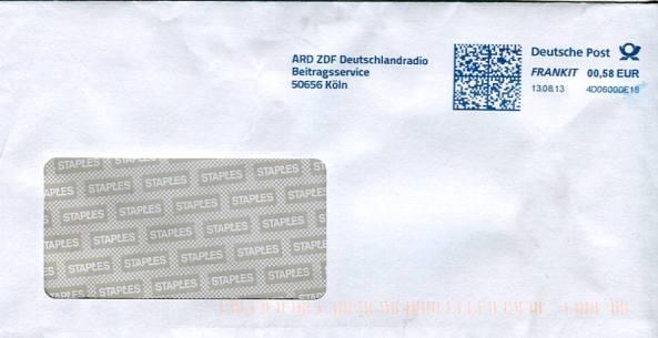 Widerspruchsbescheid-Umschlag