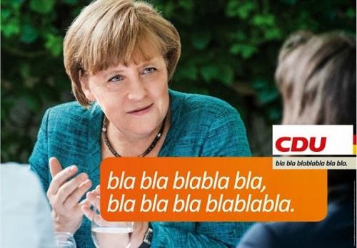 Wahlplakat CDU Angela Merkel Bundetagswahl 2013