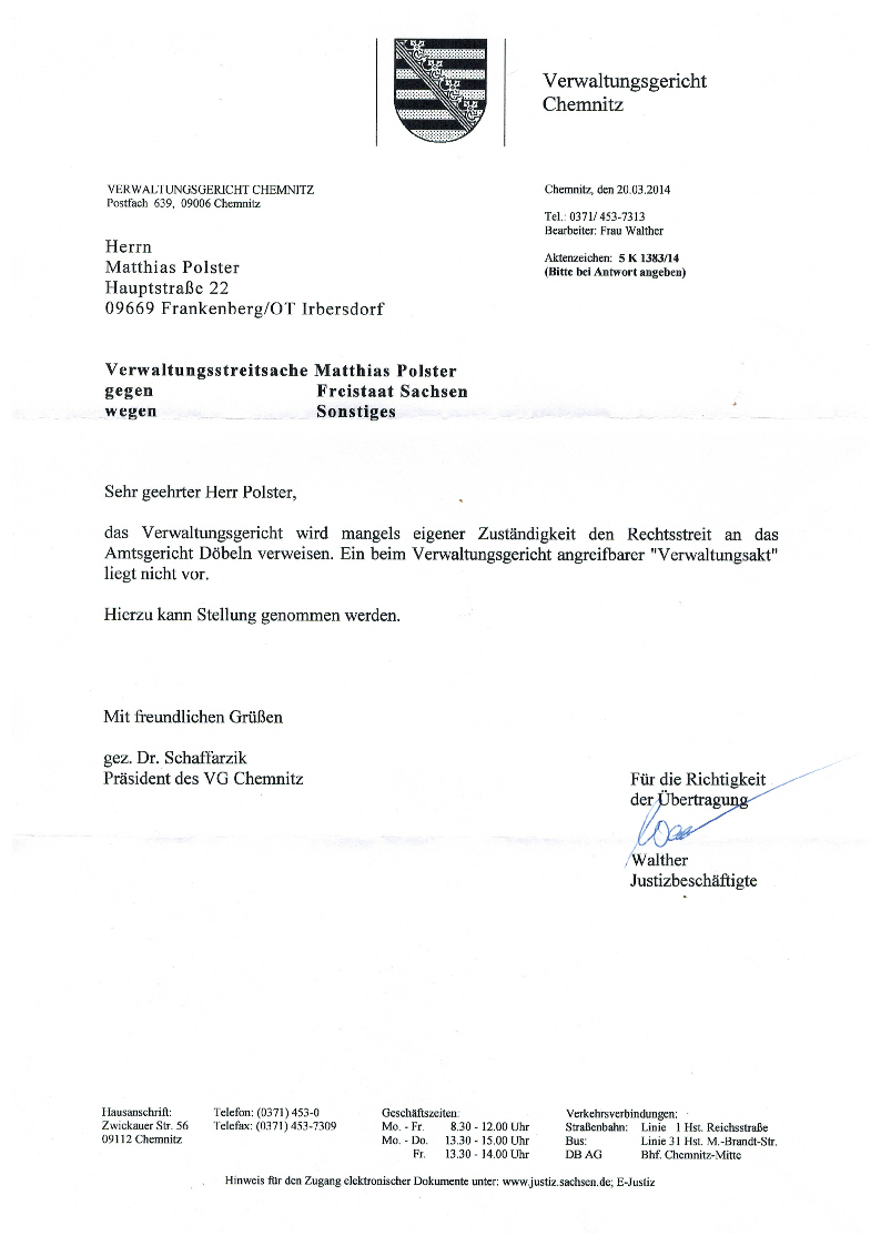 Verwaltungsgericht Chemnitz