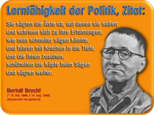 Bertolt Brecht Volksbetrugnet