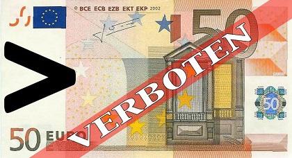 50-Euro-Bargeldverbot