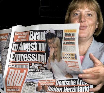 """Angela Merkel mit """"Bild""""-Zeitung"""