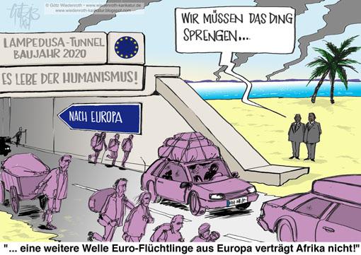 PK131107_Lampedusa_Fluechtlinge_EUropa_Tunnel