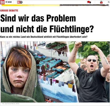 Niedliches Flüchlingskind - Häßlicher Nazi