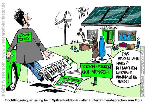 WK141024_Fluechtlinge_Zwangs_Einquartierung_Gruene