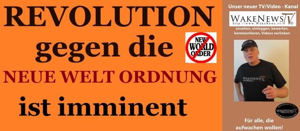 Revolution gegen die Neue Welt Ordnung ist imminent