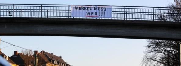 Anti-Merkel-Banner