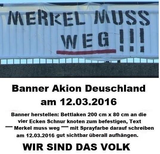Das Merkel muss weg