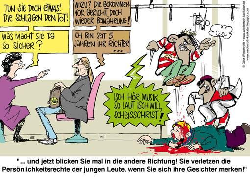 karikatur-migranten_gewalt_justiz_wegsehen